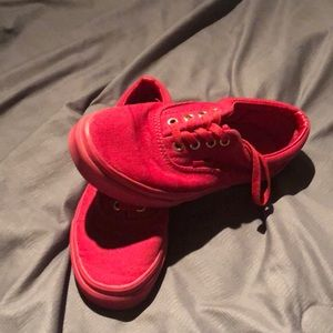 Red on red Womens 6 vans